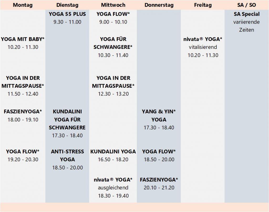 Faszienyoga, Yoga Flow, Yoga für Schwangere, Yoga mit Baby, Kundalini, Nivata Yoga, Anti-Stress Yoga